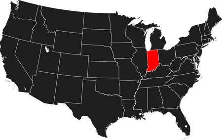 map of Indiana Ilustrace