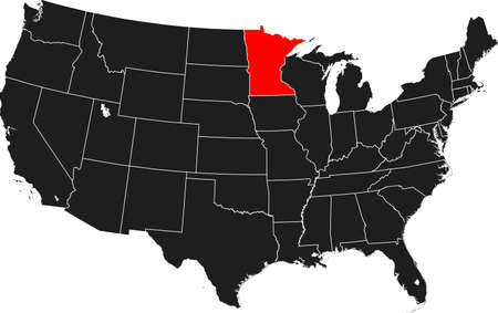 topographical: map of Minnesota Illustration