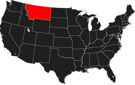 kaart van Montana
