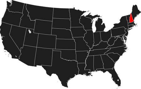 kaart van New Hampshire