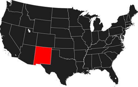 map of New Mexico Ilustrace
