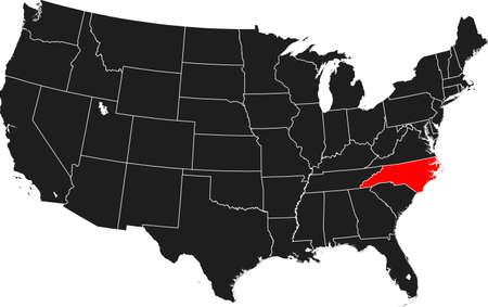 map of North Carolina Ilustrace