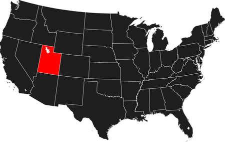 map of Utah Ilustrace
