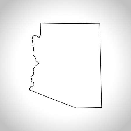 kaart van Arizona Stock Illustratie