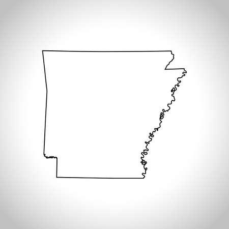 kaart van Arkansas