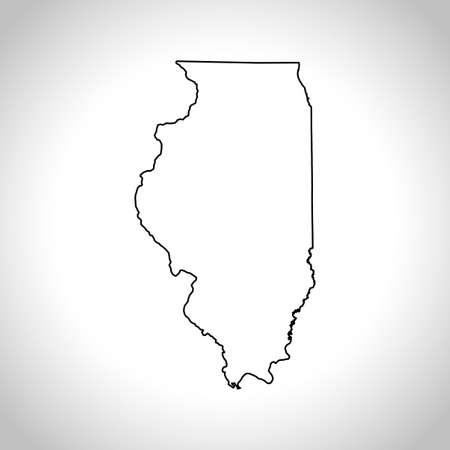 kaart van Illinois