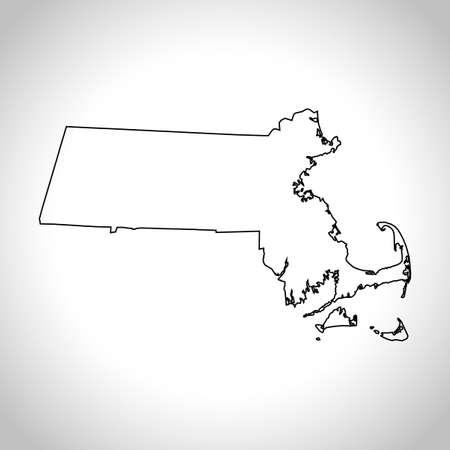 kaart van Massachusetts
