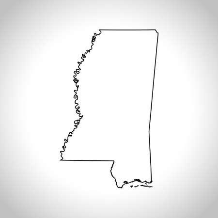 kaart van Mississippi
