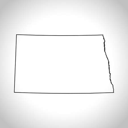 kaart van North Dakota