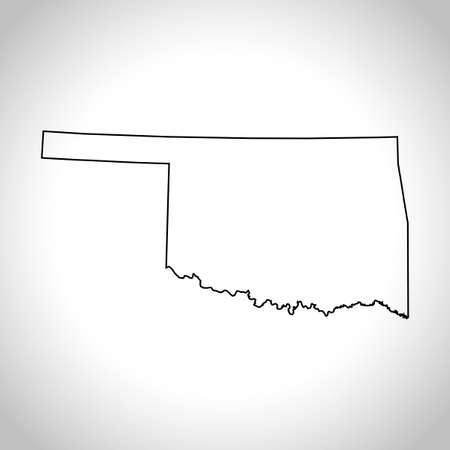oklahoma: map of Oklahoma
