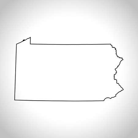 kaart van Pennsylvania Stock Illustratie