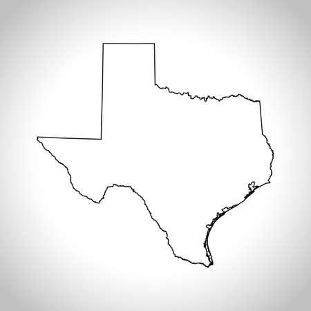 kaart van Texas