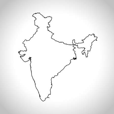 India Map Outline Stock Photos. Royalty Free India Map Outline Images