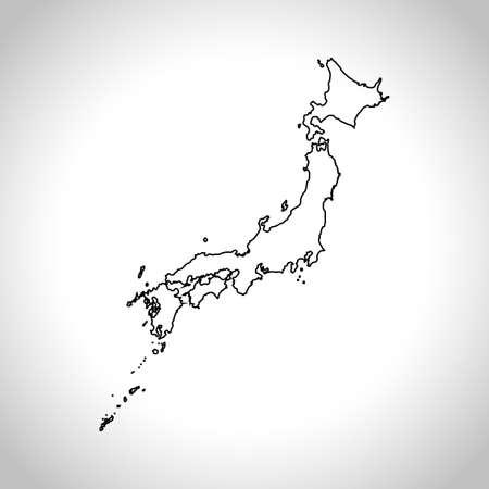 Carte du Japon Banque d'images - 67379450