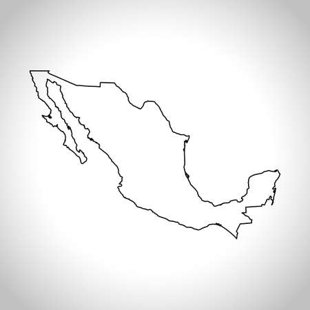the americas: map of Mexico