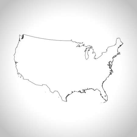 the americas: map of USA