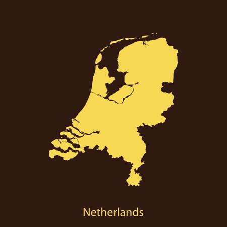 netherlands: map of Netherlands Illustration