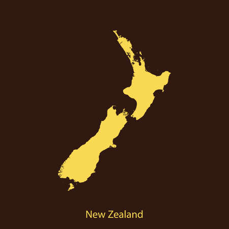 map of New Zealand Illustration