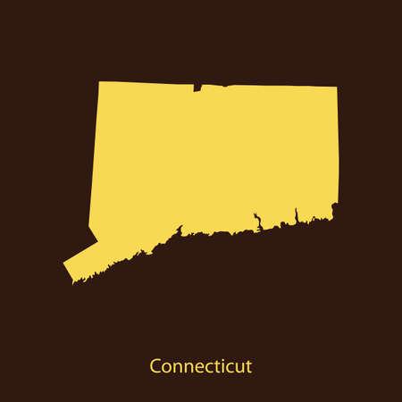 map of Connecticut Ilustrace