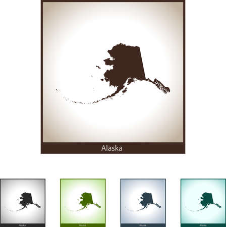 Map of Alaska isolated illustration design graphic silhouette