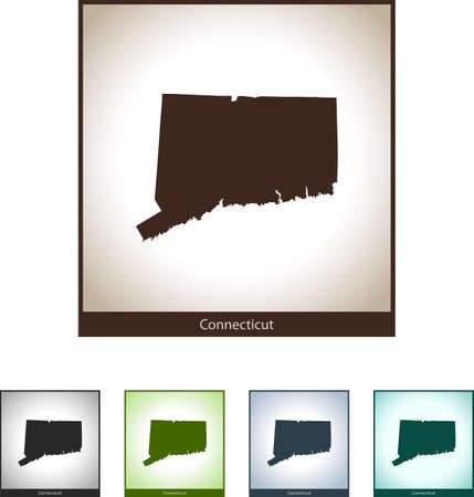Isolated illustration design graphic silhouette map of Connecticut