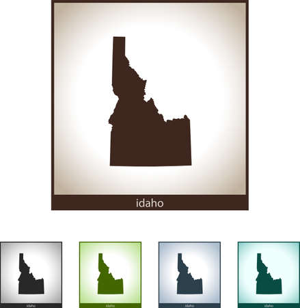 Isolated illustration design graphic silhouette map of Idaho