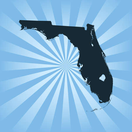 map of Florida 向量圖像