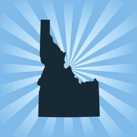 map of Idaho  イラスト・ベクター素材