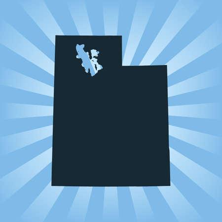 map of Utah 向量圖像