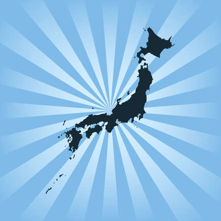 Okinawa map on a blue background
