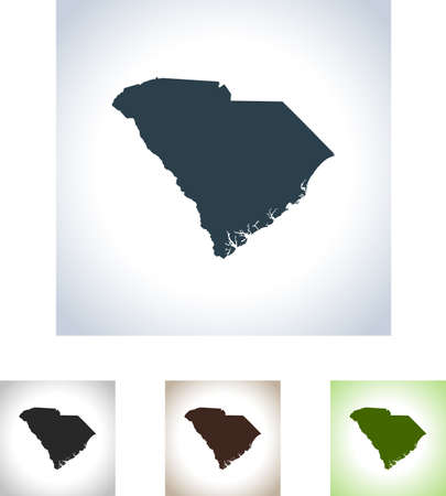 map of South Carolina Illustration