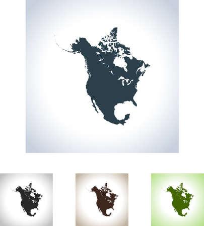 map of North America 일러스트