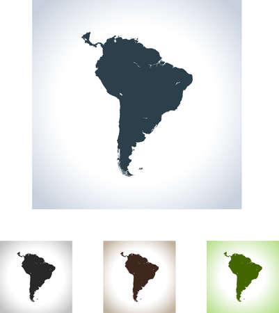 南アメリカの地図  イラスト・ベクター素材