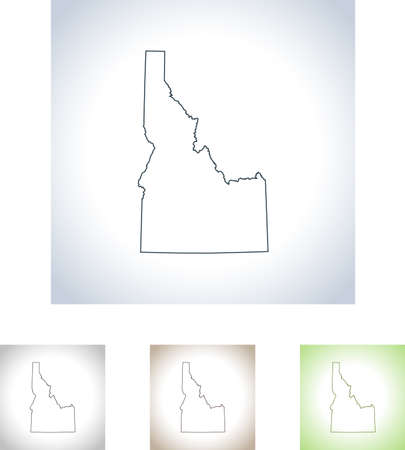 map of Idaho 写真素材 - 99379309