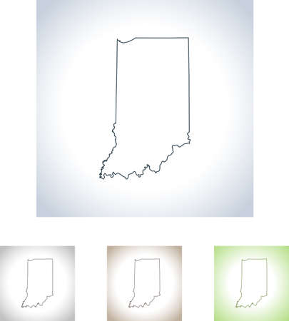map of Indiana Illustration