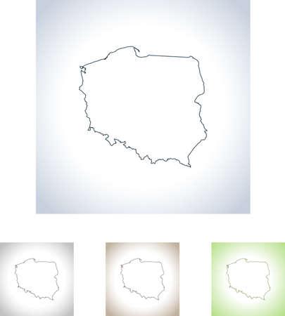 폴란드의지도 스톡 콘텐츠 - 99408600