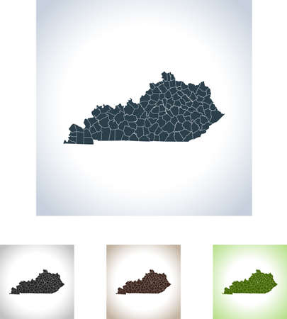 Map of Kentucky Illustration