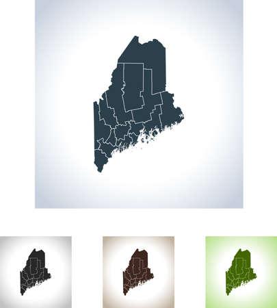 Map of Maine  イラスト・ベクター素材