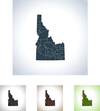 Map of Idaho icon. 写真素材 - 99654144