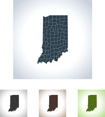Map of Indiana icon. Stock Vector - 99654145