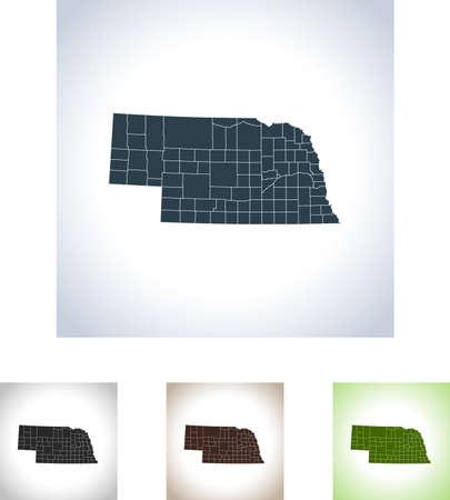 Map of Montana illustration
