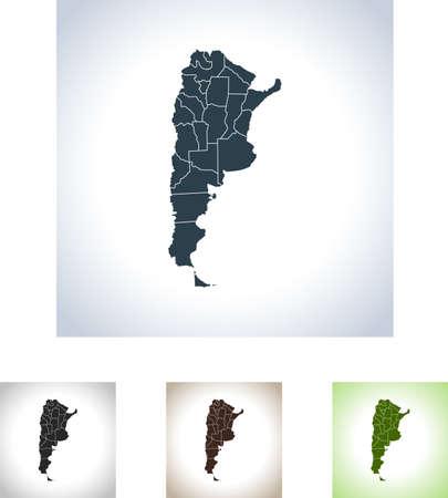 map of Argentina Illustration
