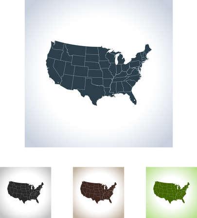 アメリカ合衆国の地図  イラスト・ベクター素材