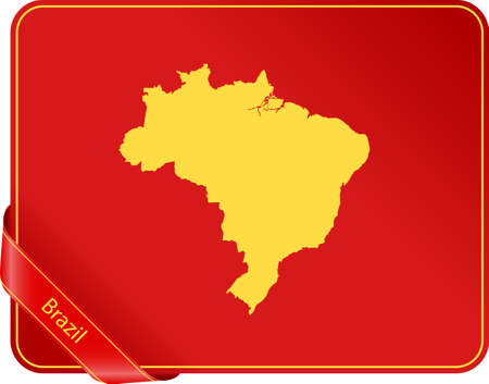 Map of Brazil 일러스트