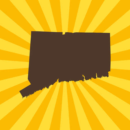 map of Connecticut Illustration