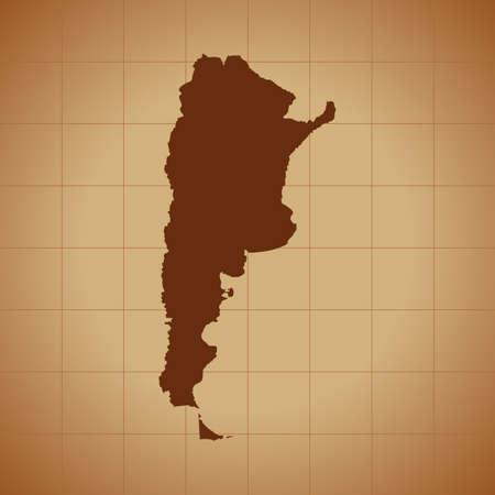 map of Argentina 일러스트