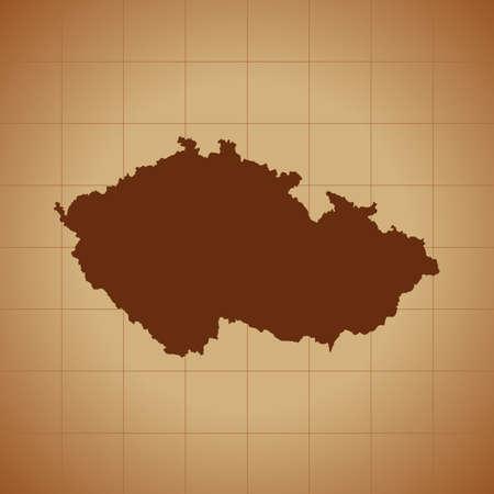 map of Czech Republic Ilustrace