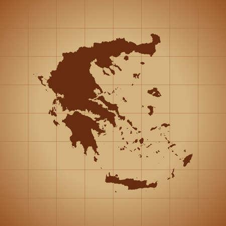 map of Greece Ilustrace