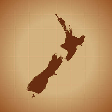 map of New Zealand 向量圖像