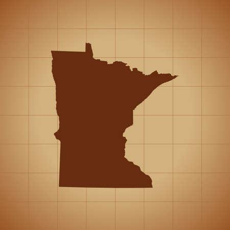 map of Minnesota Ilustrace